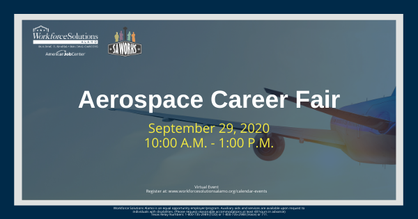 Aerospace Virtual Career Fair Flyer, September 29 from 10 a.m. to 1 p.m.